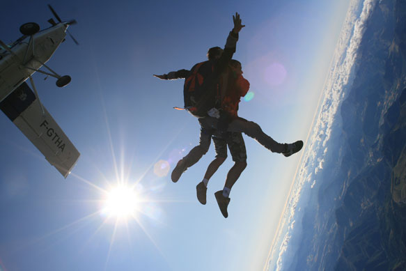 Saut en tandem - Parachutisme Tallard