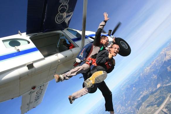 saut en parachute tandem tallard